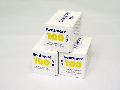 Kentmere (By Ilford) 100 135/36 Black and White Film - 3 Pack