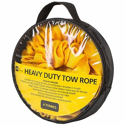 AA Tow Rope 4m in Carry Bag - 4 Tonnes