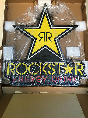 Rockstar Energy Drink LED Sign LARGE NEW Measures 30 inch X 30 inches Rock Star