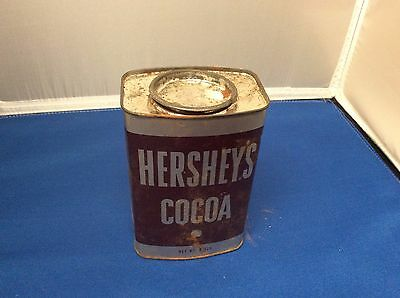 OLD ~ Hershey's Baking Cocoa Vintage 8 oz Tin / Can with Chocolate Recipes ~ #52