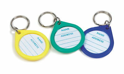 Dog Plastic Crystal Id Disc Assorted (Pack of 12)
