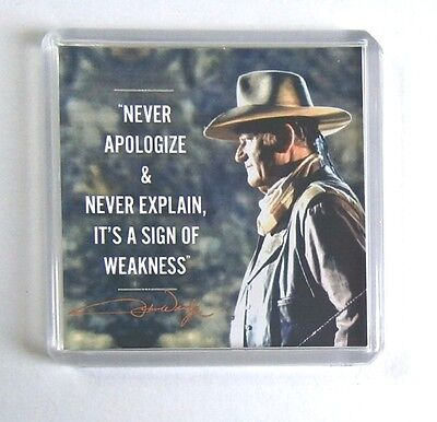 John Wayne quote movie poster fridge magnet New - The Cowboys - Rooster Cogburn