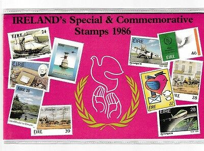 IRELAND  -  1986  Year Pack with all stamps and protective sleeve