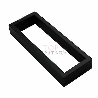 200mm Black Stainless Steel 304 Hand Towel Rack Rail Square Wall Mount Bathroom