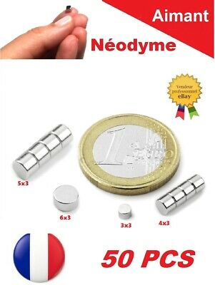 50 Aimants Neodyme ép. 3mm N35 Puissant : Photo, Magnet, Fimo, Scrapbooking...