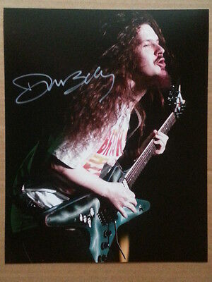 Dimebag Darrell Pantera Heavy Metal Hand Signed Autograph 8 x 10 Photo with COA