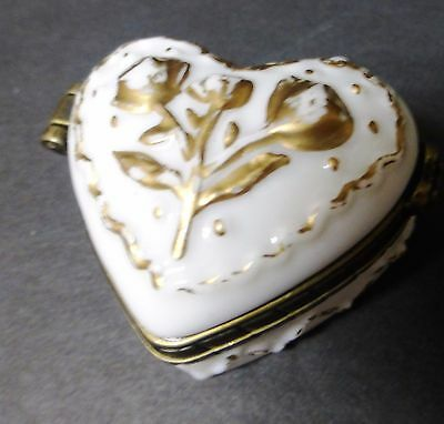 Midwest of Cannon Falls Love Note Heart Porcelain Hinged Trinket Box