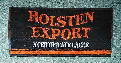 Holsten Export X Certificate Lager Beer Bar Towel Pub Home Bar Man Cave Unused