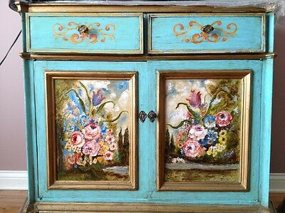 ANTIQUE ITALIAN PAINTED DRESSER CHEST MADE IN ITALY CIRCA 1920's