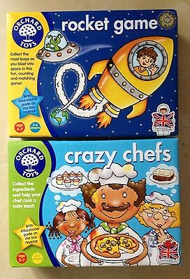 Rocket Game & Crazy Chefs - Orchard Toys - Educational Games - New
