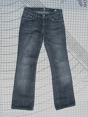 7 For All Mankind Bootcut Womens Jeans In Black New York BKK Size 27 x 30.5
