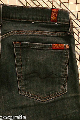 7 For All Mankind 7FAM Straight Leg Rinse Wash Womens Jeans Size 27 x 33