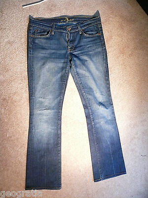 7 For All Mankind Bootcut Medium Wash Womens Jeans 29 x 31