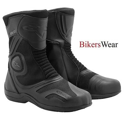 ALPINESTARS AIR PLUS GORE-TEX TOURING Fully waterproof Boots -BLACK Was £199