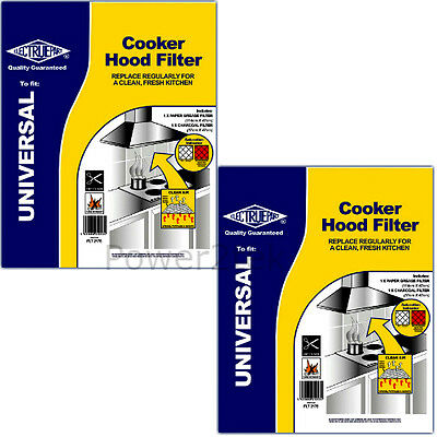 2 x Junker Ruh Universal Cooker Hood Extractor Grease & Carbon Charcoal Odour Fi