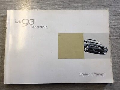 Saab 9-3 Convertible Owners Manual- USED -