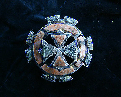 Superbe Broche Victorienne XIXeme Argent sterling
