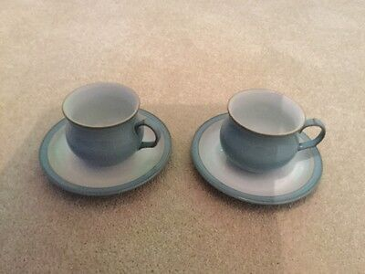 denby colonial blue cups and saucers (Two)