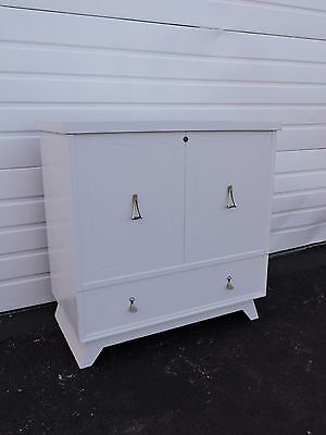 Tall Painted Mid-Century Cedar Chest / Trunk by Lane 6562
