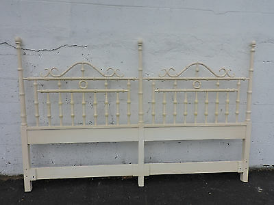 Hollywood Regency Mid Century Tall Painted King Size Headboard by Omega 6806
