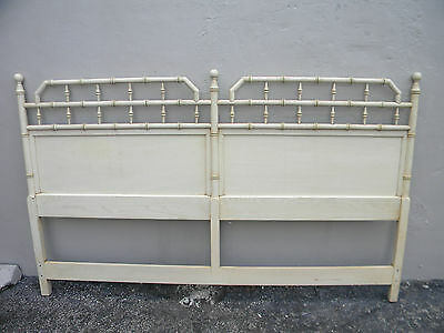 Mid-Century King Size Hollywood Regency Painted Headboard by Mount Airy 2221