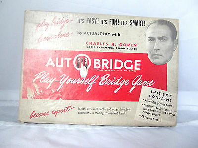 Vintage AutoBridge Play-Yourself Game Charles Goren 1950's