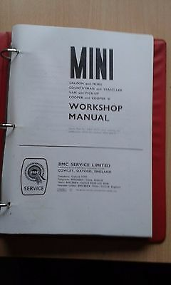 Bmc Classic Mini, Cooper, Cooper S  Factory Workshop Manual Copy Austin Morris