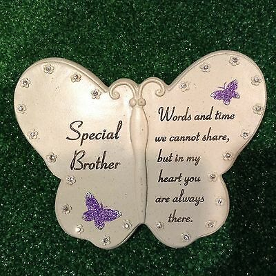 Special Brother Butterfly Book, Grave Memorial Ornament,graveside Cemetery Gift