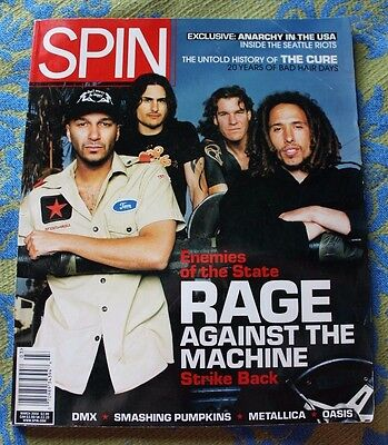 Rage Against The Machine The Cure Smashing Pumpkins Vintage SPIN Magazine 2000