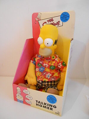 THE SIMPSONS - TALKING 40cm HOMER SIMPSON DOLL - BOXED