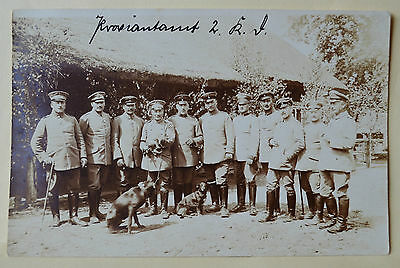 WW I·Dachshund/Teckel and soldiers RPPC approx 1910-1920 military RPPC postcard