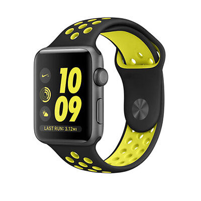 REPLACEMENT SILICONE NIKE SPORT BAND STRAP For 42MM Apple Watch Series 2 / 1