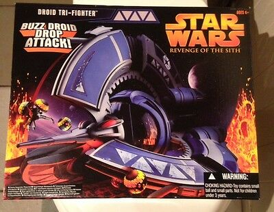 Star Wars Revenge Of The Sith Buzz Droid Trifighter By Hasbro New Sealed