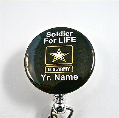 Us Soldier For Life Id Badge Retractable,military.nurse,dr.rn,army,navy,air
