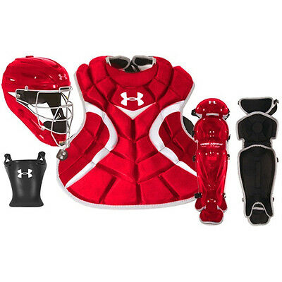 Under Armour Senior 12-16 Victory Series Catcher's Gear Set UACK2-SRVS - Red