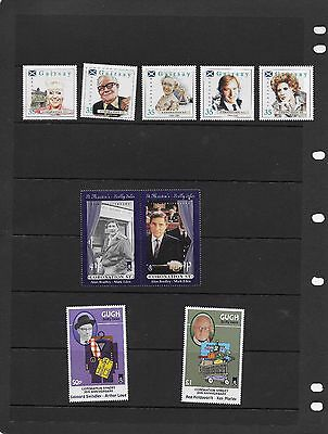 CORONATION STREET 35th ANNIVERSARY ISSUE GAIRSEY-GUGH-ST MARTIN'S 9 STAMPS