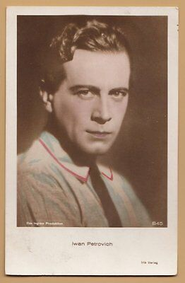 Actor Iwan Petrovich, vintage hand tinted real photo poscard ROOS