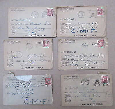 WW2 letters to Lance Corp E R Stretch 2160376 re marriage to a German Girl
