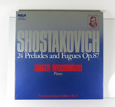 Shostakovich 24 Preludes and Fugues Op. 87 Roger Woodward Piano. 2 LP NM