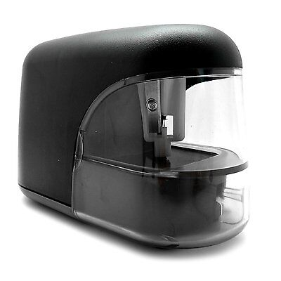 Electric Battery Operated Pencil Sharpener -  Office Classroom Business Black