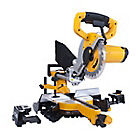 JCB Single Bevel Sliding Mitre Saw and stanley heavy duty hand saw