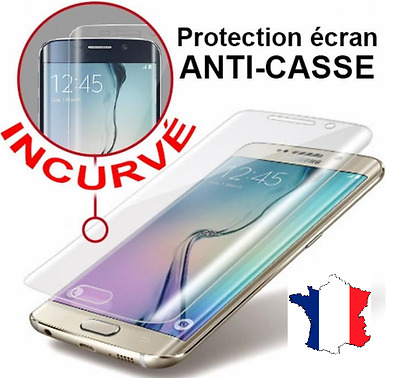 Vitre film protection verre trempé 3D Samsung Galaxy S6 S7 S8 Edge plus S10 /E