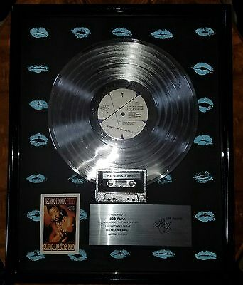 Pump Up The Jam-Felly-1989-One Of A Kind-Framed-Rare-Real Deal-Platinum-Single-!