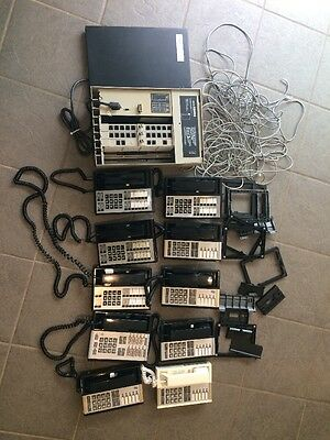 AT&T Lucent Avaya Merlin 820D2 Phone System With Phones