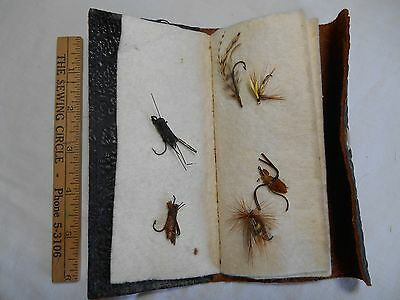 Vintage Woolworth Leather Fly Wallet, with 6 flies