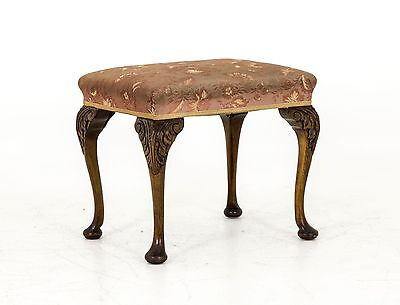 B441A Antique Scottish Victorian Foot Stool, Ottoman, Bench