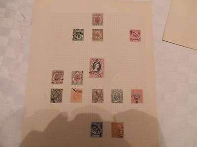 Stamp Album Pages Of Malaya On Four Pages