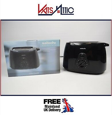 2 Slice slot bread Toaster kitchen Black Removable Crumb Tray Variable Browning