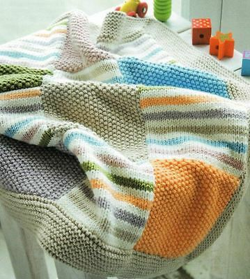 KNITTING PATTERN BABY\'S Patchwork Blanket (63) - £3.00 | PicClick UK