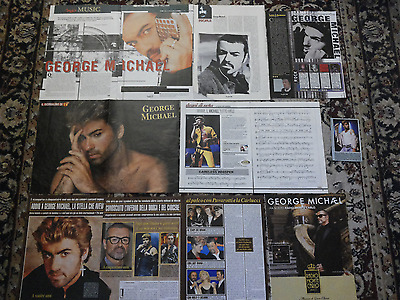 George Michael  Italian Pack Of Clippings Cuttings Articles